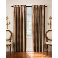 Sage Green Drapes Sheer Striped Curtains Classic Cotton Linen Blend Jacquard Stripe