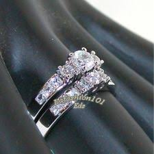 wedding ring sets for women womens stainless steel wedding ring set ebay