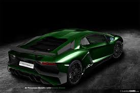 Green Lamborghini Aventador - check out the lambo aventador sv rendered in all 34 colors 68 pics
