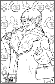 bbc one eastenders colouring in