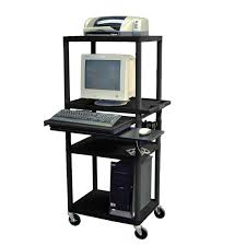 Tall Computer Desk With Shelves Furniture Narrow Tall Standing Computer Workstation With