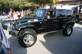 jeep modified modified black jeep rubicon 4 door 1 madwhips