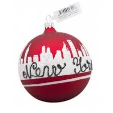 new york glass ornaments new york collection and city