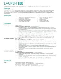 sample resume for law enforcement security guard resume sample