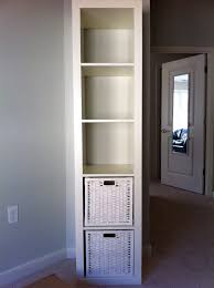 narrow cube bookcase tall skinny shelf how to build a diy tall skinny linen cabinet