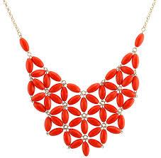 orange statement necklace images Chunky cluster party statement necklace orange jpg