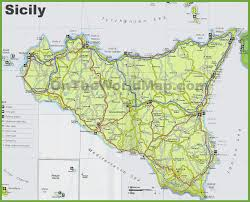 Road Map Of Italy sicily maps italy maps of sicily sicilia
