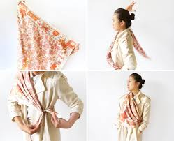 ways to wear short scarf for a more fashionable look how to tie a scarf like a french u2014 vogue vogue