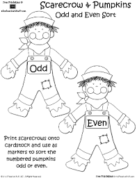 scarecrow odd and even sort a to z teacher stuff printable pages