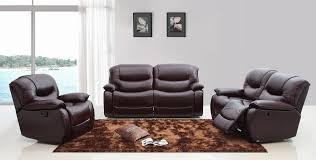 Leather Sofas Italian Divani Casa E9023 Modern Brown Italian Leather Sofa Set W
