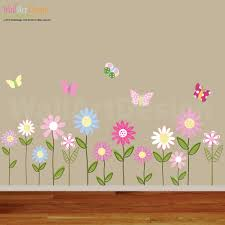 vinyl wall decal vinyl wall decal stickers daisy flowers zoom