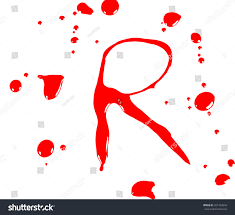 concept halloween letters blood drops alphabet stock vector