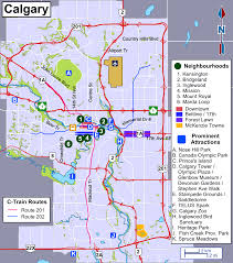 Calgary Map Calgary Travel Map Overview Of The City Png