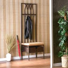 front door bench coat rack metal entryway coat rack and storage