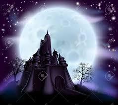 spooky background halloween halloween castle background with a spooky haunted castle and