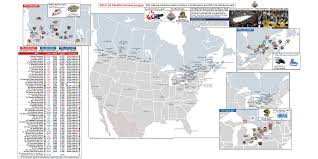 Map Of Michigan And Canada by Canadian Hockey League Location Maps For Whl Ohl And Qmjhl