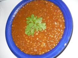 cuisiner lentille lentilles à l algérienne ou l 3diss assiette coquette
