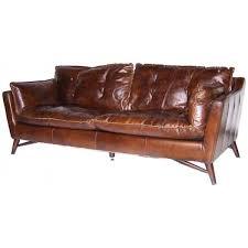 canapé en cuir marron canapé cuir colonial pieds bois