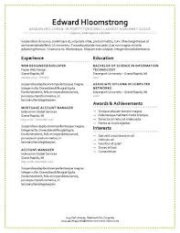 Simple Sample Of Resume Format by Modern Resume Templates 64 Examples Free Download