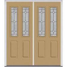 Double Glass Door by Double Door Front Doors Exterior Doors The Home Depot