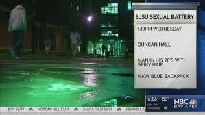san jose state map duncan sjsu search for suspect in sexual battery nbc bay area