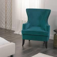 Velvet Wingback Chair Design Ideas Acceptable Blue Velvet Wingback Chair With Additional Home
