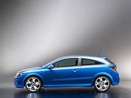 opel blue opel astra opc 2005 car blue side view nice