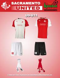 sac united soccer club u9 u11 uniforms