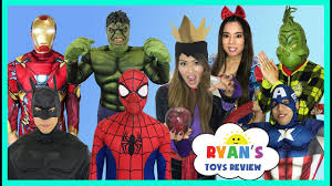 Backyard Superheroes Surprise Toys For Kids Superhero In Real Life Spiderman Avengers