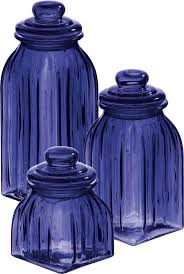 Blue Kitchen Canister Sets Blue Kitchen Storage Jars Cowboysr Us
