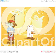 royalty free rf clipart illustration of an orange halloween