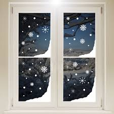 Christmas Window Decorations by Christmas Snow Window Corners White Sticker Xmas Snowflakes