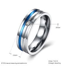 couples wedding bands forever design couples wedding bands jewelry blue titanium