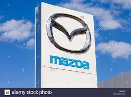 mazda motor official dealership sign of mazda mazda motor corporation is a