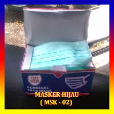 Masker Hijau 1 Box rumah majun murah