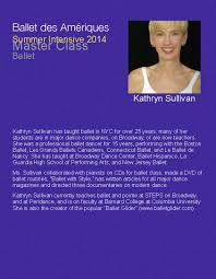 master class with kathryn sullivanour summer intensive blog