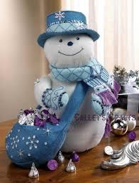snowflake snowman bucilla felt christmas 3d home decor kit 86071
