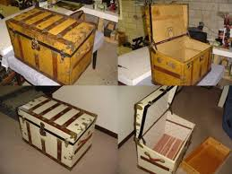 beautiful travel trunks antique trunks refinished by our customers