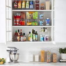 narrow depth kitchen storage cabinet the home edit by idesign narrow pantry bin