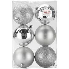 silver ornaments set of 6 at home at home