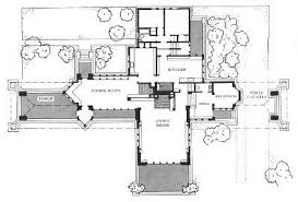 first floor plan of the ward willits house 1901 architecture