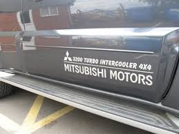 mitsubishi sticker mitsubishi 4x4 vinyl decal sticker door graphic x2 shogun ebay