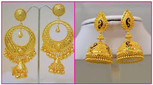 buttalu earrings gold earrings designs with weight gold jhumkas buttalu