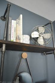 diy industrial pipe shelves table and hearth