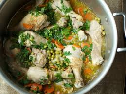spring chicken with carrots and peas u2014 the weekender fn dish