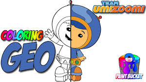 how to color team umizoomi geo coloring page nickelodeon nick jr