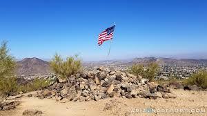 Phoenix Arizona Flag 365 Phoenix Hikes 7 Arrowhead Point Trail At Thunderbird