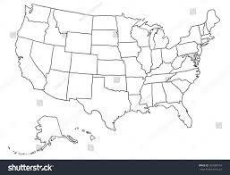 Vector Usa Map by Cartoon Usa Map Stock Vector 307084574 Shutterstock