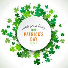 Shamrock Green St Patrick U0027s Day Background Vector Illustration For Lucky Spring