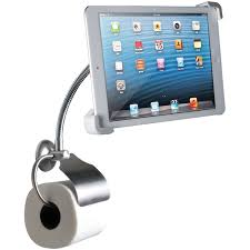 paper stand holder amazon com cta digital wall mount bathroom stand for ipad and